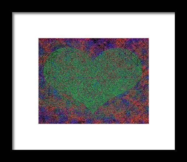 Sacred Geometry Framed Print featuring the mixed media Creation Of Love by Dorothy Berry-Lound