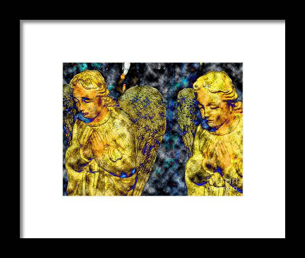 Diane Dimarco Art Framed Print featuring the photograph Creche Angels 8 by Diane DiMarco