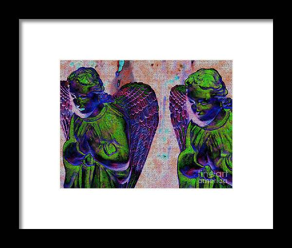 Diane Dimarco Art Framed Print featuring the photograph Creche Angels 9 by Diane DiMarco