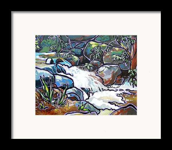 Creek Framed Print featuring the painting Creek by Nadi Spencer