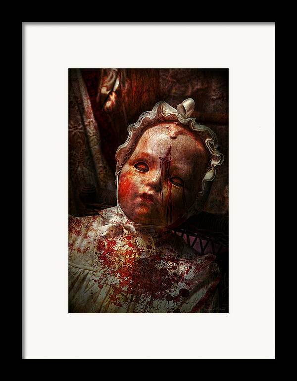 Doll Framed Print featuring the photograph Creepy - Doll - It's Best To Let Them Sleep by Mike Savad