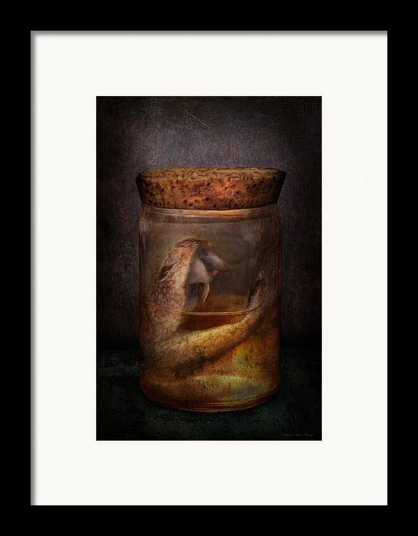 Creepy Framed Print featuring the photograph Creepy - Tonight We Eat Snake by Mike Savad