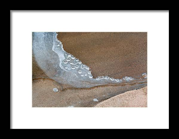 Abstract Nature Photographs Framed Print featuring the photograph Crescent Edge by Rob MacArthur