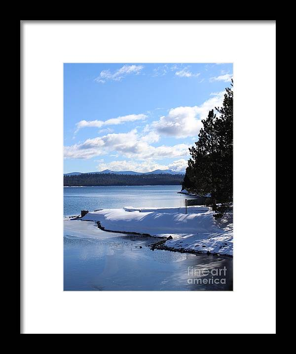 Landscape Framed Print featuring the photograph Crescent Lake by Tim Rice