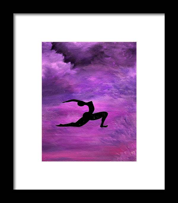 Silhouette Framed Print featuring the painting Crescent Moon by Shari SharStar Afflick