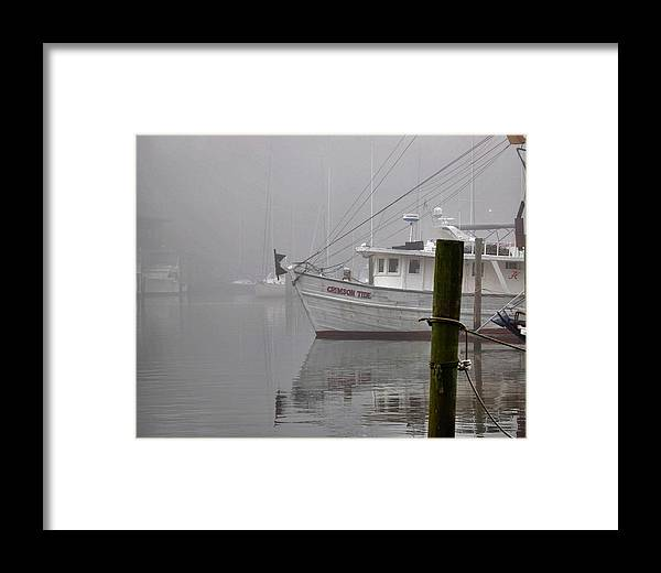 Alabama Framed Print featuring the digital art Crimson Tide In The Mist by Michael Thomas