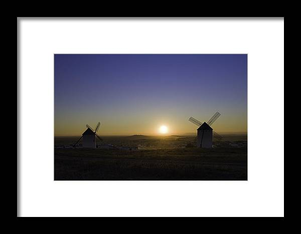 Sunset Framed Print featuring the photograph Criptana Sunset by Peter Lubben