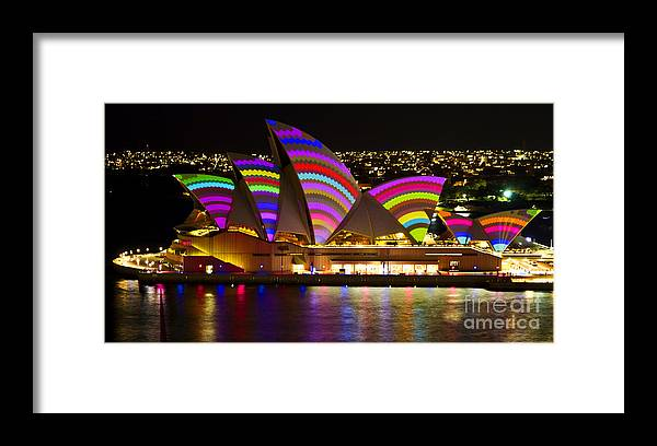 Sydney Framed Print featuring the photograph Crochet Sails by Bryan Freeman