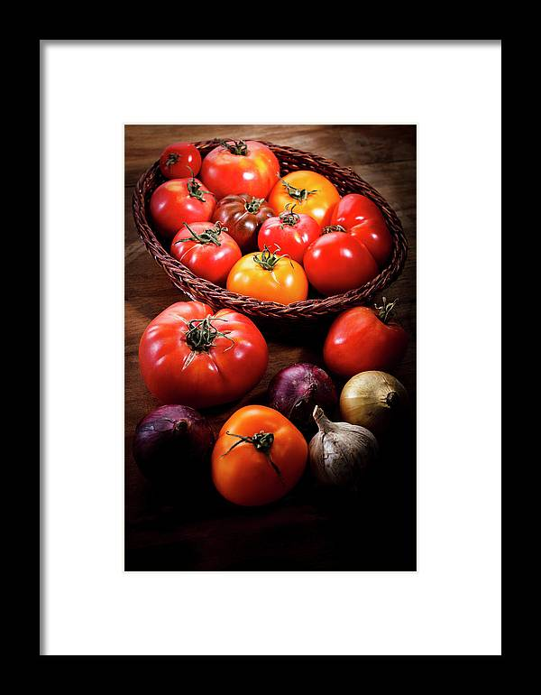 Yield Sign Framed Print featuring the photograph Crop Tomatoes by Letty17