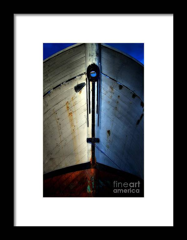 Abstract Framed Print featuring the photograph Cross Bow by Lauren Leigh Hunter Fine Art Photography
