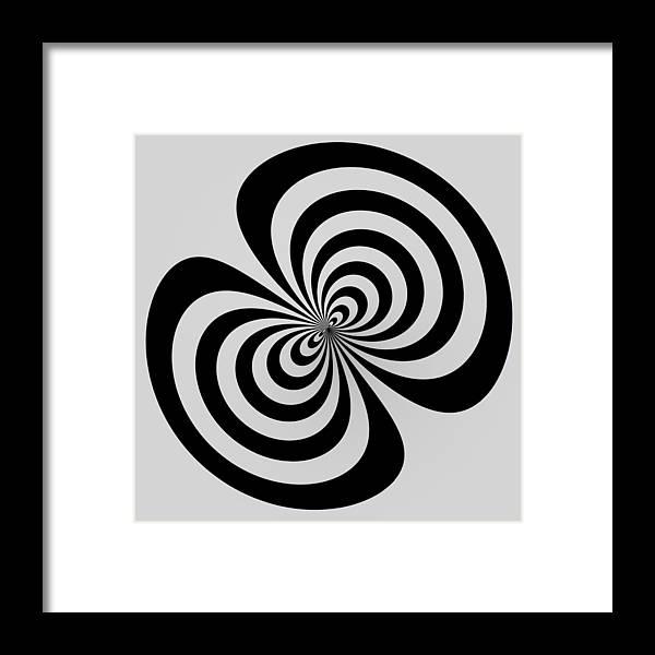 Black Framed Print featuring the digital art Cross Eyed by Nick Kloepping