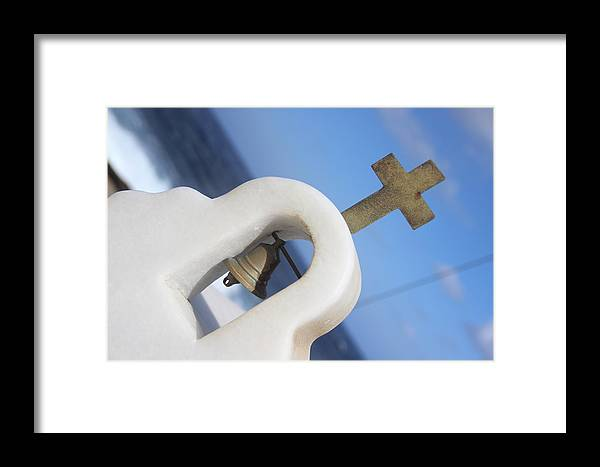 Greece Framed Print featuring the photograph Cross by Maria Pilar Milani