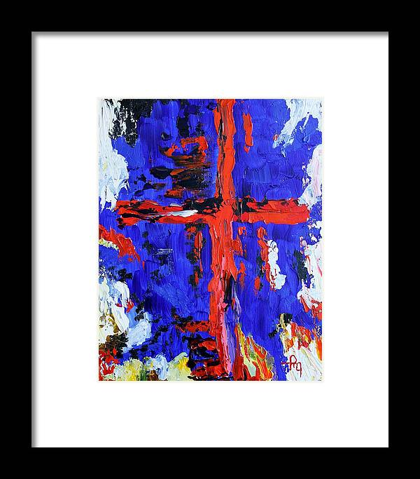 Cross Framed Print featuring the painting Cross Of The Patriot by Michael Greeley