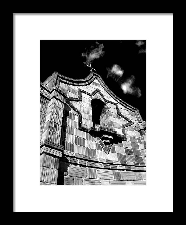 Sky Framed Print featuring the photograph Crosstower by Gabe Arroyo