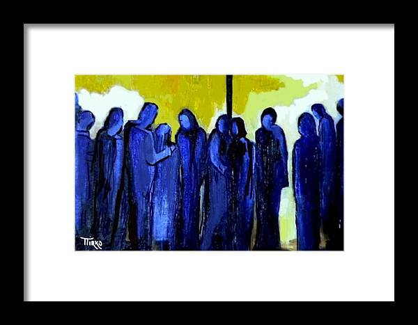 Crowd Framed Print featuring the painting Crowd Nr.11 by Mirko Gallery