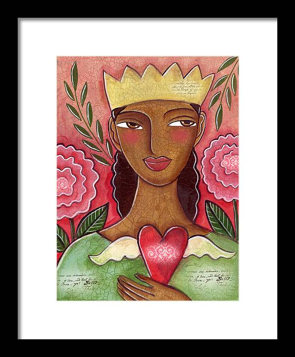 Heart Framed Print featuring the painting Crowned Heart by Elaine Jackson