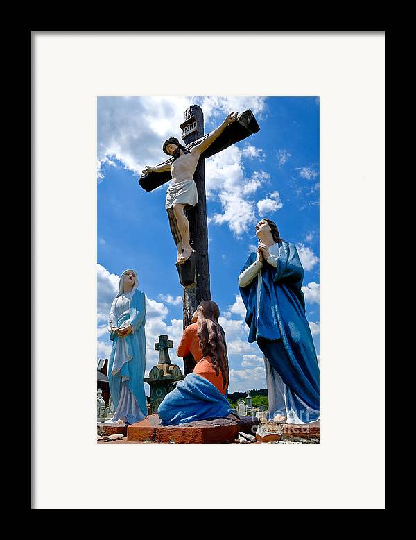 Atalphonsus Framed Print featuring the photograph Cruficix Statue At St Alphonsus Church Wexford by Amy Cicconi
