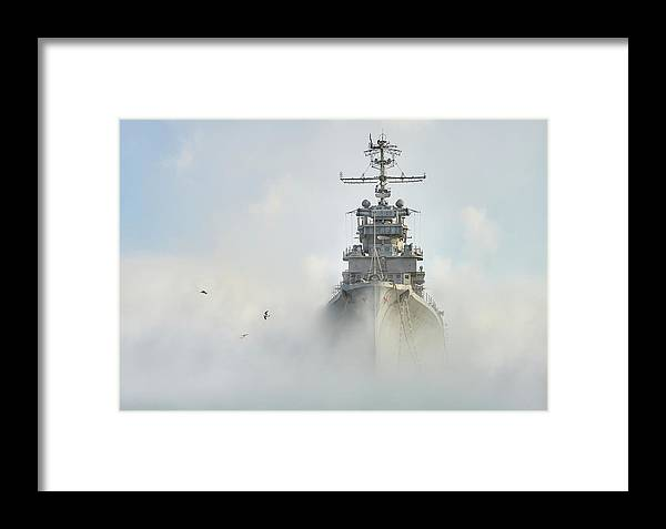 Vessel Framed Print featuring the photograph Cruiser Ghost by Dmitry Nesvetaylov