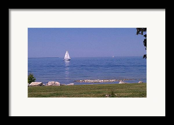 Hot Summer Day Framed Print featuring the photograph cruisin down the Bay on a Sunday afternoon by Dawn Koepp