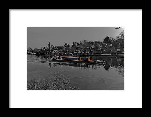 Thames River Framed Print featuring the photograph Cruising Along The Thamas River by Maj Seda