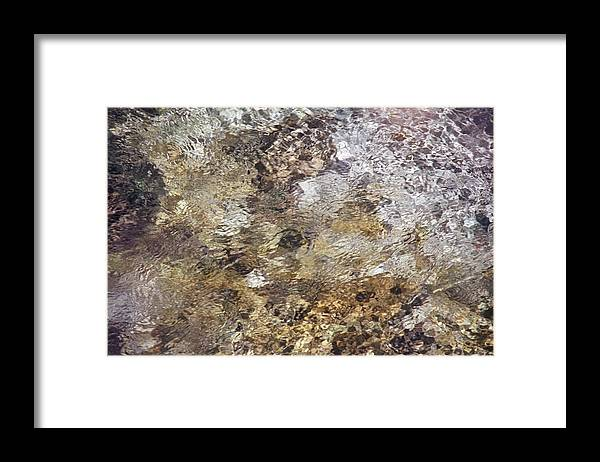 Nature Framed Print featuring the photograph Crystalline Water by Patrick Kessler