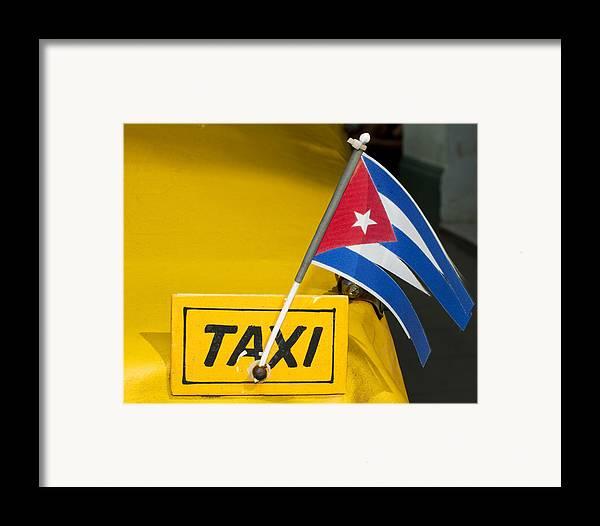 Cuba Framed Print featuring the photograph Cuba Taxi by Norman Pogson