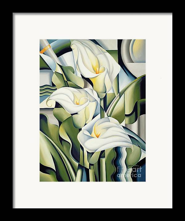 Cubist Framed Print featuring the painting Cubist Lilies by Catherine Abel