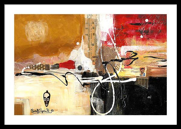Everett Spruill Framed Print featuring the painting Cultural Abstractions - Hattie McDaniels by Everett Spruill