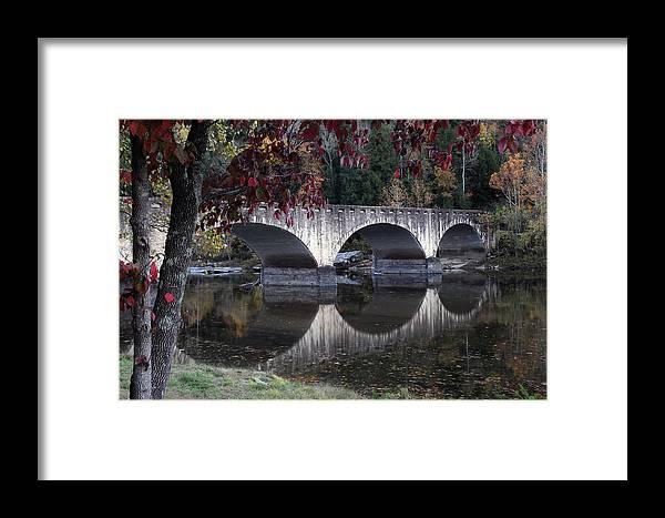 Bridge Framed Print featuring the photograph Cumberland Falls Bridge by Eileen Findak