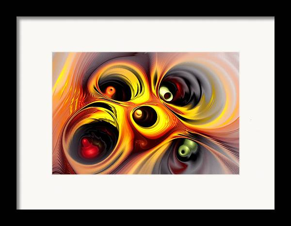 Computer Framed Print featuring the digital art Curious by Anastasiya Malakhova