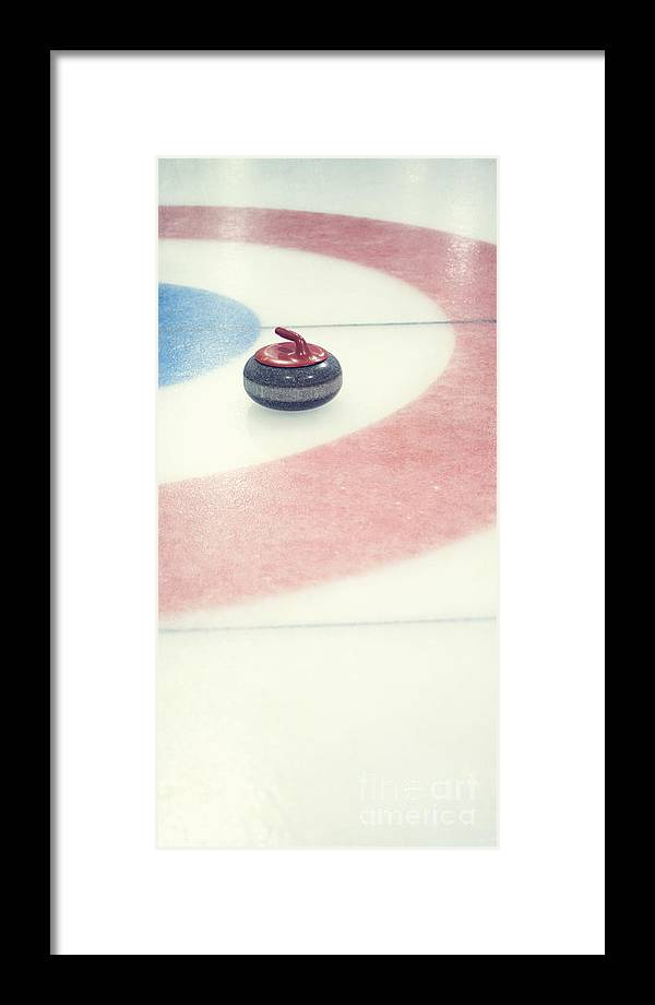 Curl Framed Print featuring the photograph Curling Stone In A Distance by Priska Wettstein