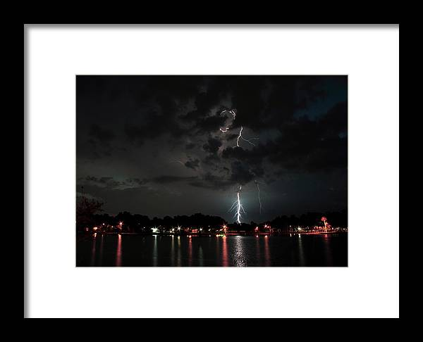 Thunder Framed Print featuring the photograph Curly Lightning by Howard Markel