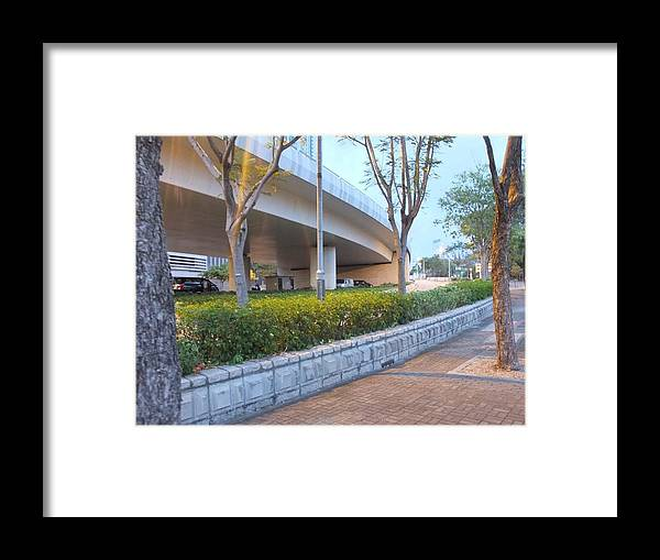 Landscape Framed Print featuring the photograph Curved Bridge by Navin
