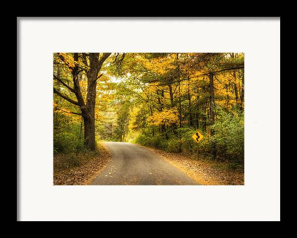 Autumn Framed Print featuring the photograph Curves Ahead by Scott Norris