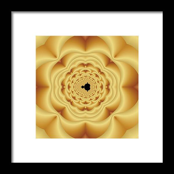 Abstract Framed Print featuring the digital art Cushioned Mandelbrot No. 1 by Mark Eggleston