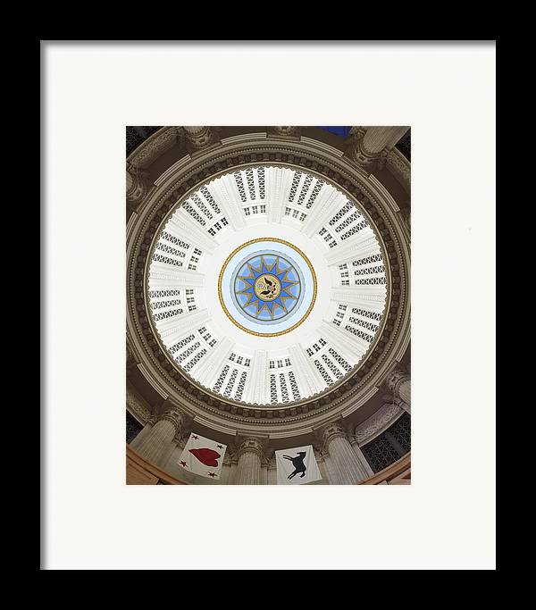 Custom House Tower Framed Print featuring the photograph Custom House Tower Ceiling Boston by Norman Pogson