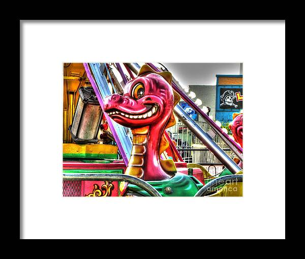 Amusement Framed Print featuring the photograph Cute Lil Dragon by Jaclyn Hughes Fine Art