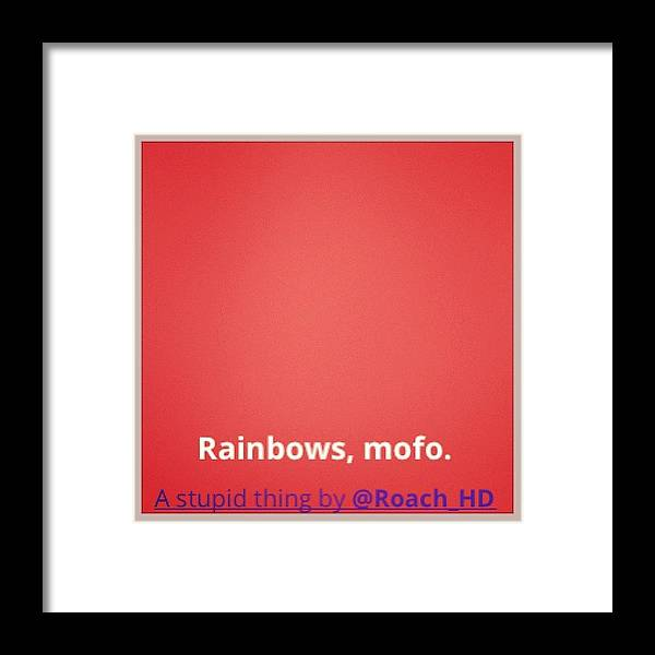 Development Framed Print featuring the photograph #cute Rainbow #background #effect With by Katie Ball