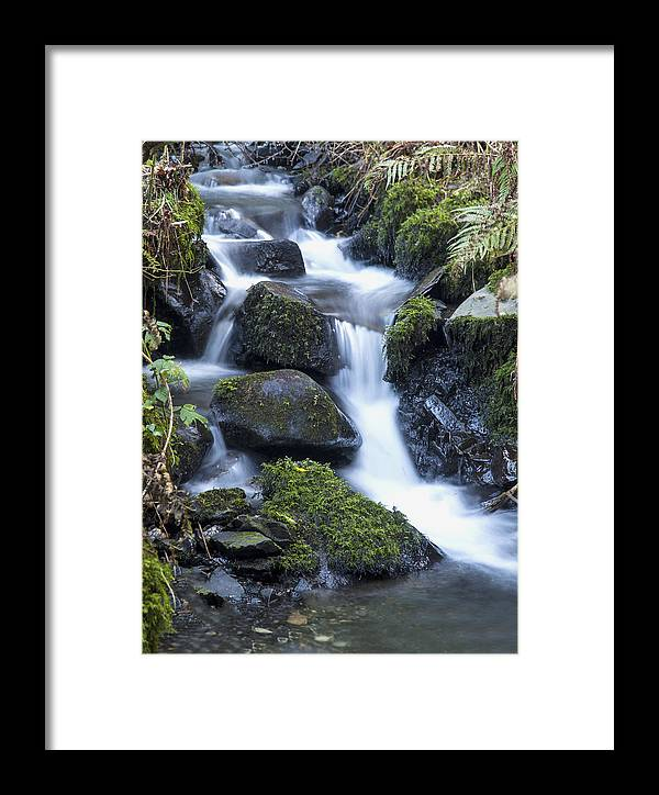Waterfall Framed Print featuring the photograph Cwm Gwaun Waterfall by Simon West