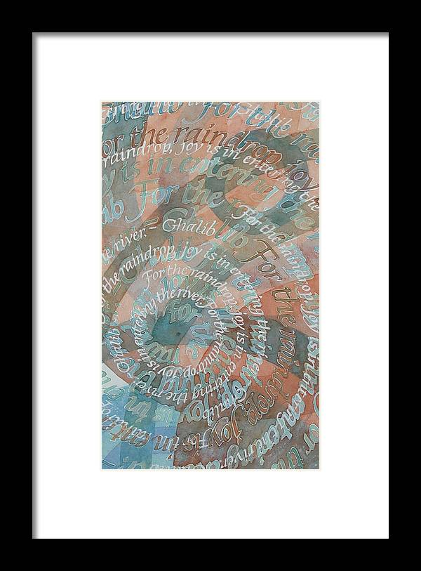 Calligraphy Framed Print featuring the painting Cycle by Sid Freeman