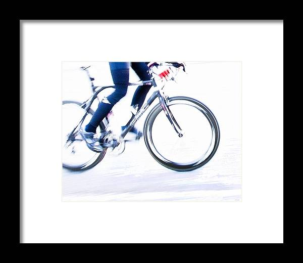 Bicycling Framed Print featuring the photograph Cycling by Theresa Tahara