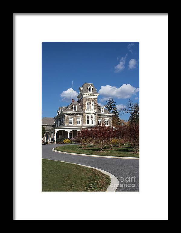 Fall Framed Print featuring the photograph Cylburn Mansion by Arlene Carmel