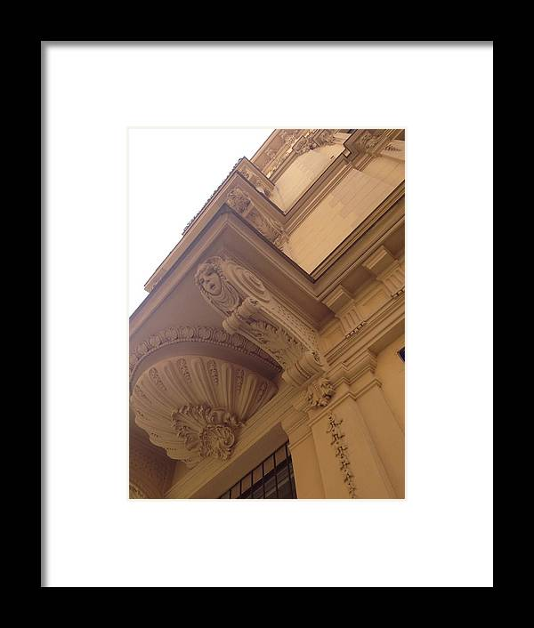 White Framed Print featuring the photograph Czech Building In White by Hannah Rose