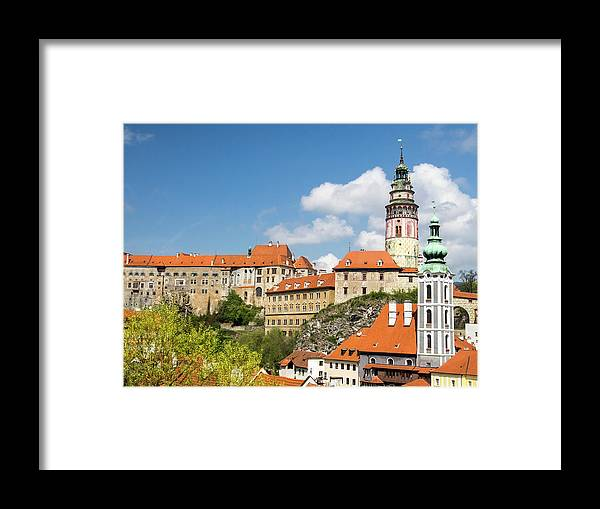Architecture Framed Print featuring the photograph Czech Republic, Chesky Krumlov by Julie Eggers