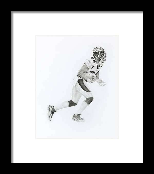 Dt Framed Print featuring the drawing D Thomas 88 by Don Medina