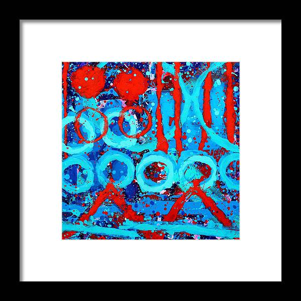 Abstract Framed Print featuring the painting Da Capo by John Nolan