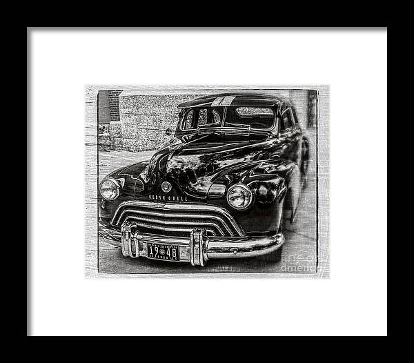 Car Framed Print featuring the photograph Dad's Olds by Perry Webster