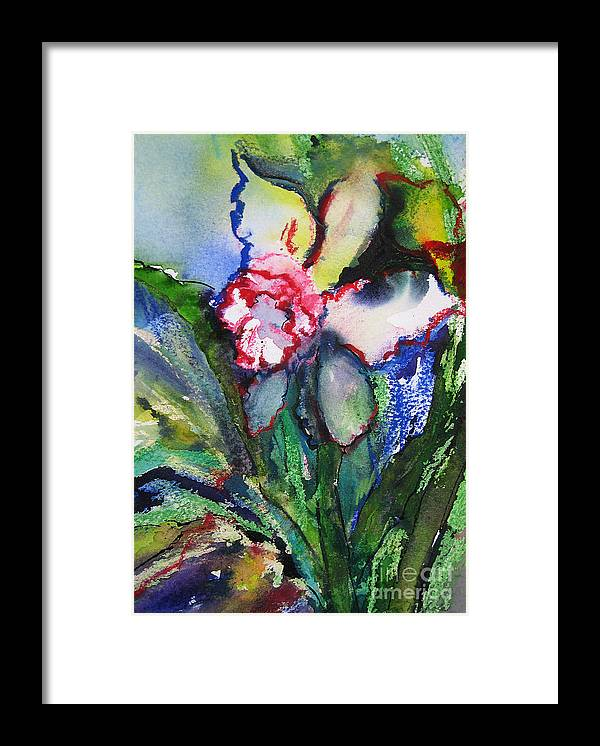 Watercolor Framed Print featuring the painting Daffodil 6 by Gwen Nichols