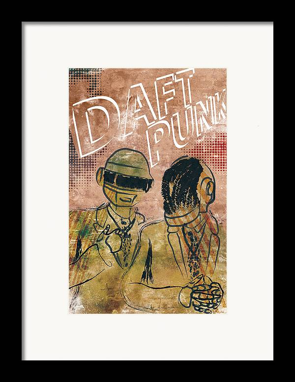 Poster Of Daft Punk. Poster Is Signed And Numbered By Artist Jackson. Limited Edition Of 100. Framed Print featuring the photograph Daft Punk by Jackson