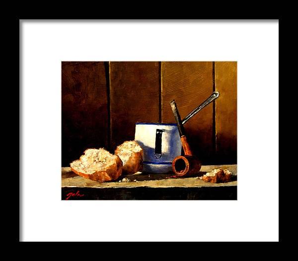 Still Life Framed Print featuring the painting Daily Bread Ver 1 by Jim Gola